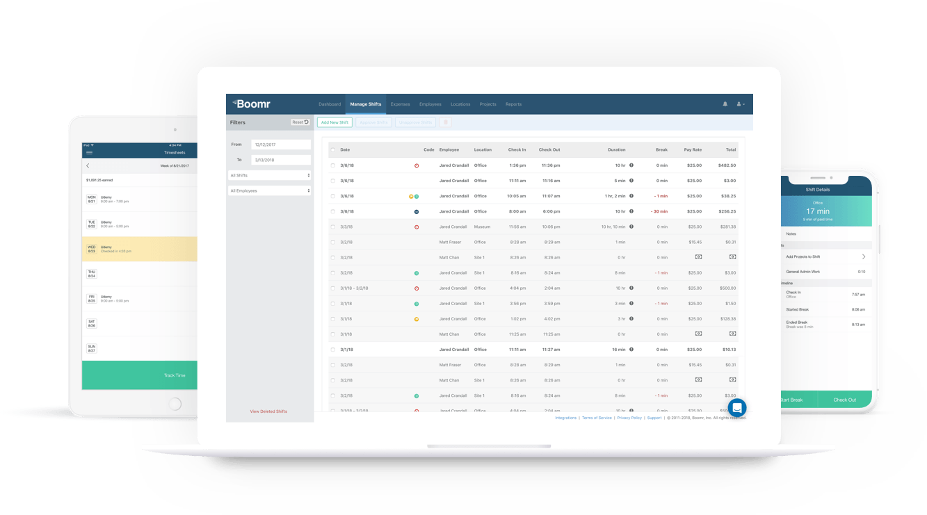 boomr the all in one employee time tracking software mobile time card app timesheets and workforce management software solution made for businesses of - Time Card App