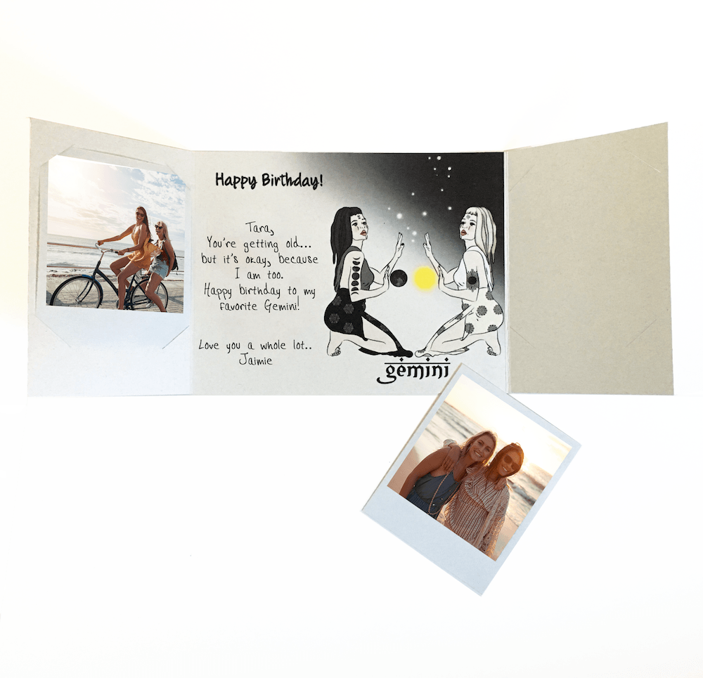 In The Age Of Technology This Company Has Created A Platform That Allows Customers To Digitally Design And Send Real Card With Two Inserted Photos From
