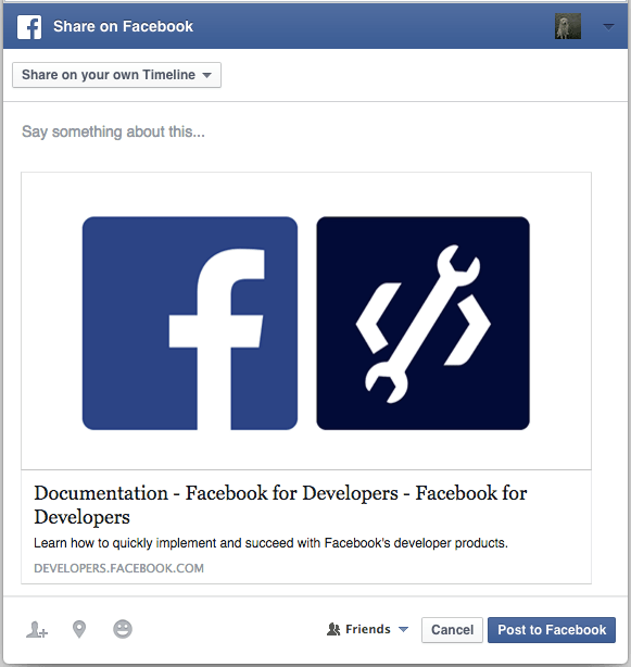 Add author name and URL in facebook link sharing - BlogProcess